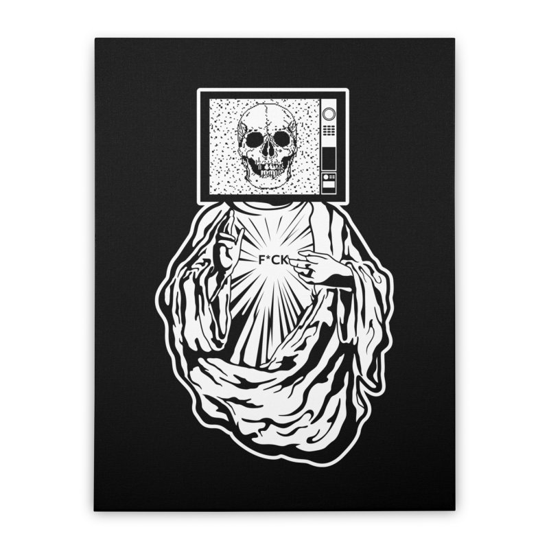 Media Messiah Home Stretched Canvas by japdua's Artist Shop