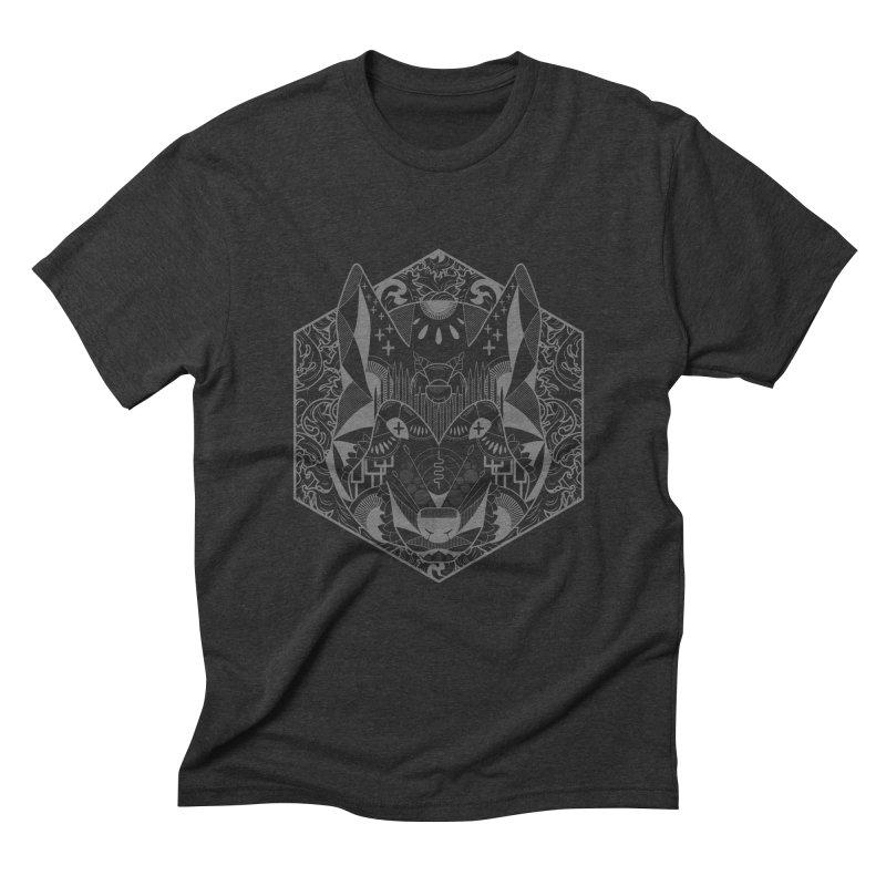 Primal Wolf Men's Triblend T-shirt by japdua's Artist Shop