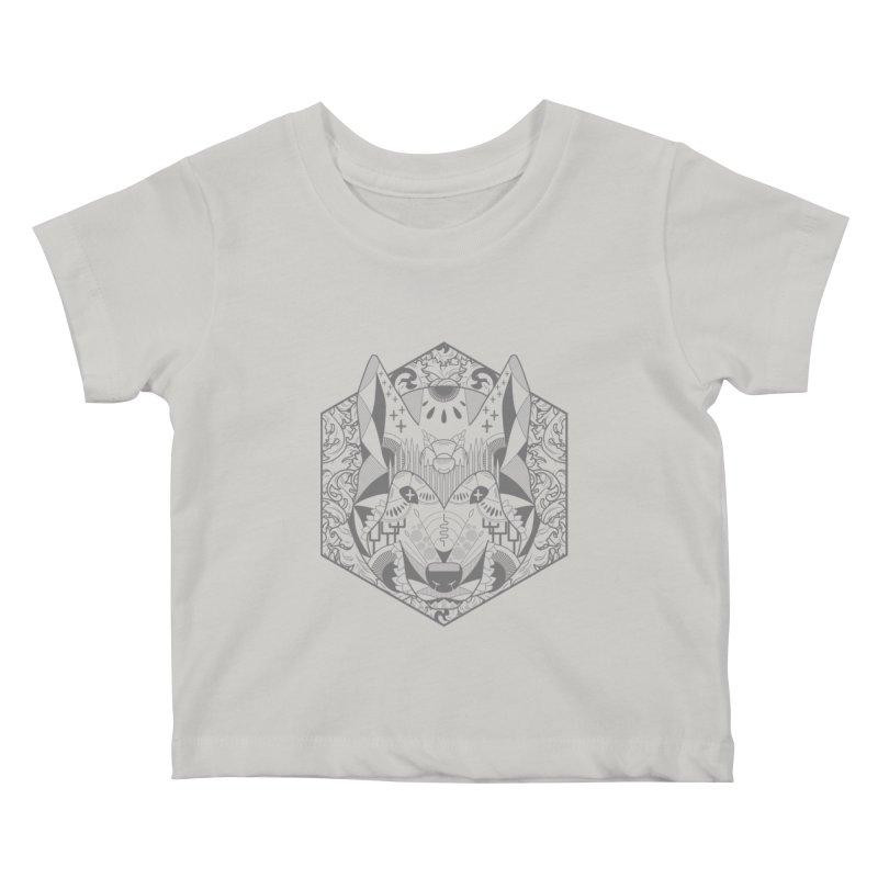 Primal Wolf Kids Baby T-Shirt by japdua's Artist Shop