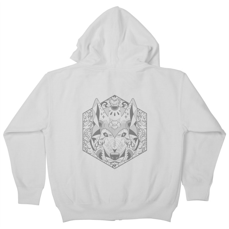 Primal Wolf Kids Zip-Up Hoody by japdua's Artist Shop