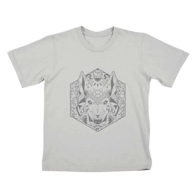 Primal Wolf Kids T-shirt by japdua's Artist Shop