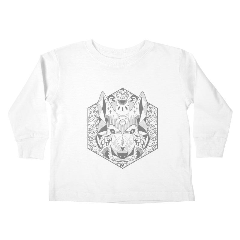 Primal Wolf Kids Toddler Longsleeve T-Shirt by japdua's Artist Shop