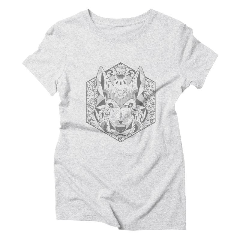 Primal Wolf Women's Triblend T-Shirt by japdua's Artist Shop
