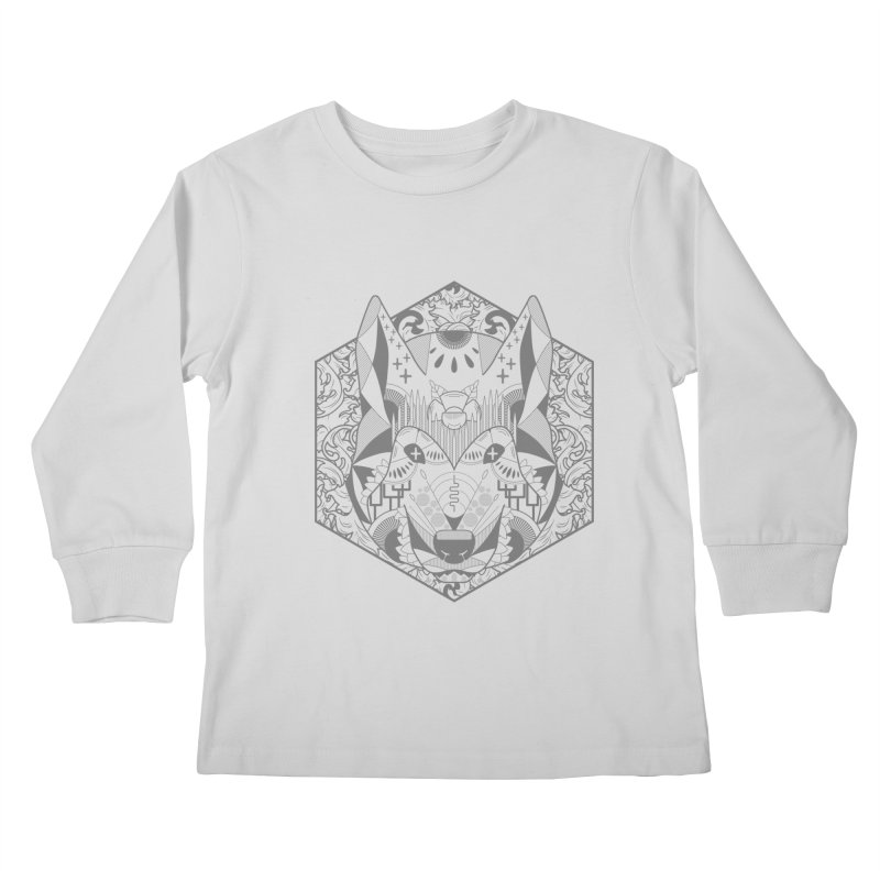 Primal Wolf Kids Longsleeve T-Shirt by japdua's Artist Shop