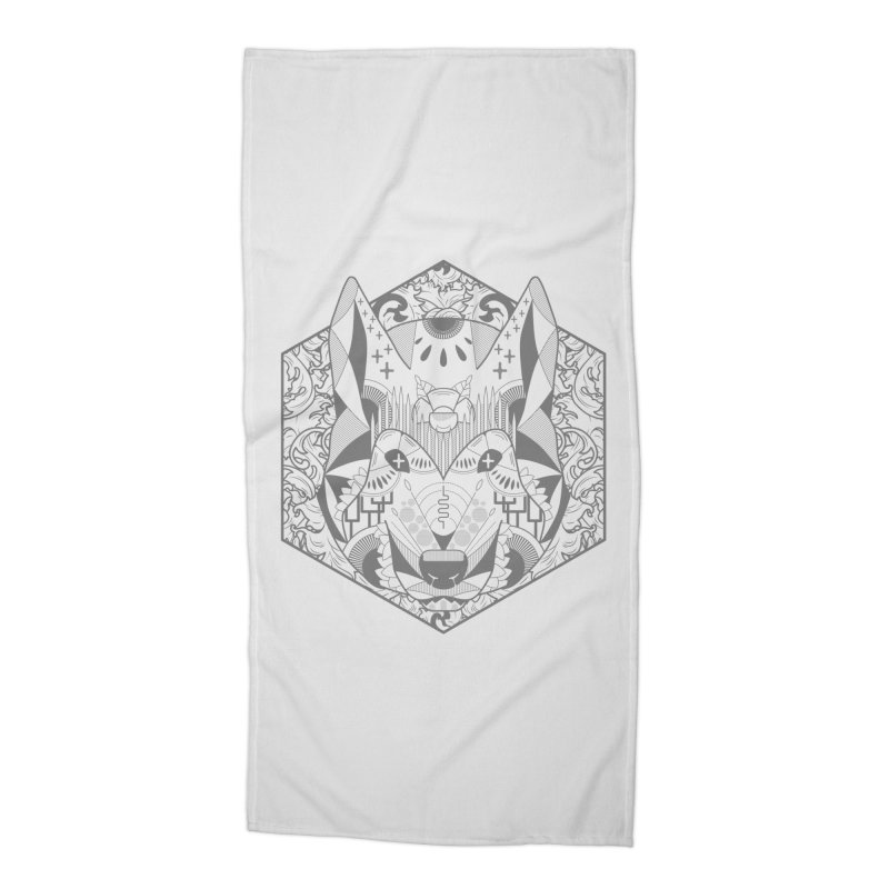 Primal Wolf Accessories Beach Towel by japdua's Artist Shop