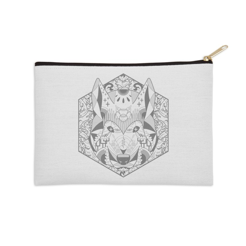 Primal Wolf Accessories Zip Pouch by japdua's Artist Shop