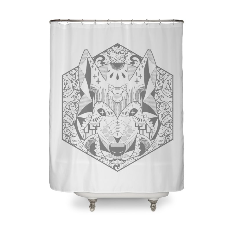 Primal Wolf Home Shower Curtain by japdua's Artist Shop