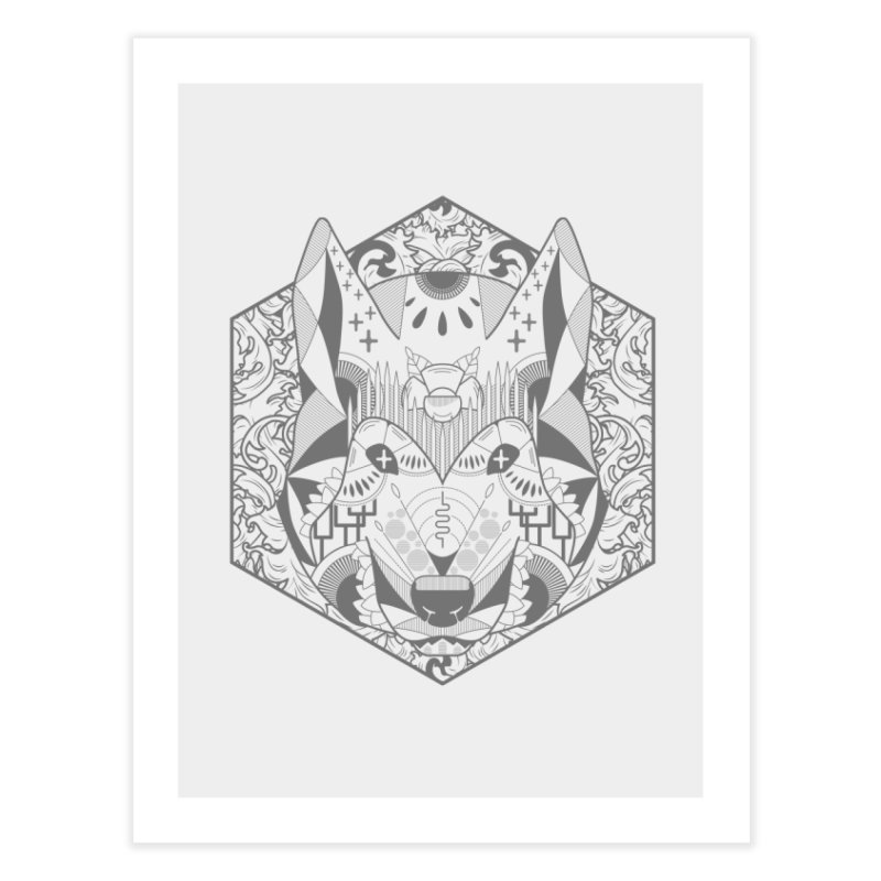 Primal Wolf Home Fine Art Print by japdua's Artist Shop