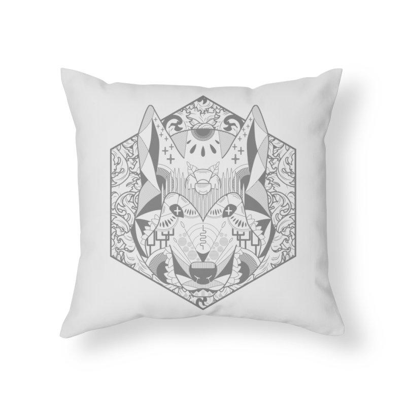 Primal Wolf Home Throw Pillow by japdua's Artist Shop