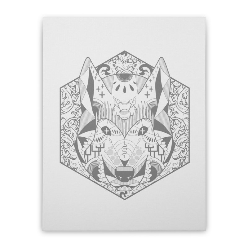 Primal Wolf Home Stretched Canvas by japdua's Artist Shop