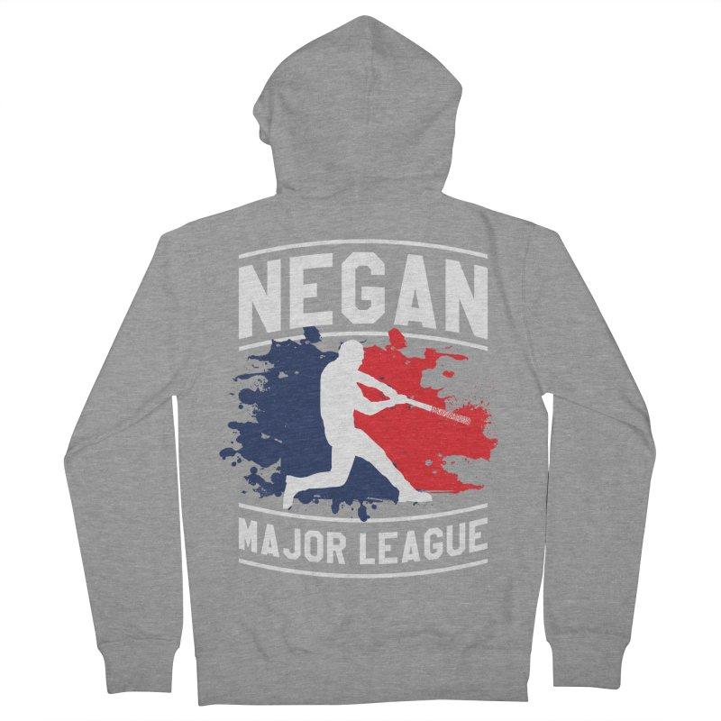 Negan-Major-League Men's Zip-Up Hoody by japdua's Artist Shop