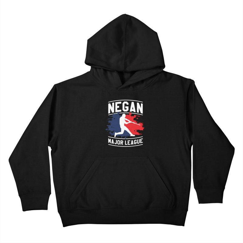 Negan-Major-League Kids Pullover Hoody by japdua's Artist Shop