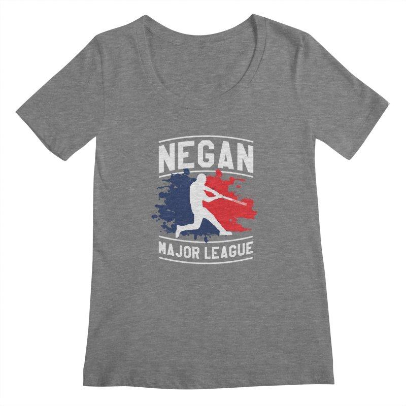 Negan-Major-League Women's Scoopneck by japdua's Artist Shop