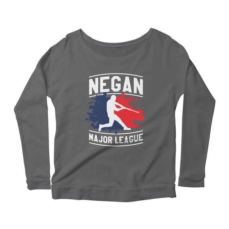 Negan-Major-League Women's Longsleeve Scoopneck  by japdua's Artist Shop
