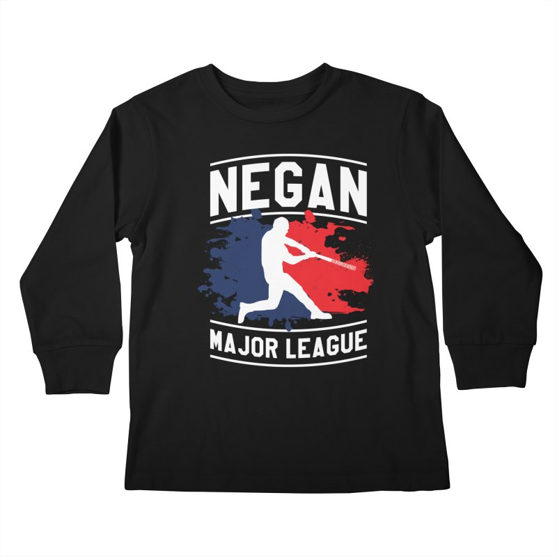 Negan-Major-League Kids Longsleeve T-Shirt by japdua's Artist Shop