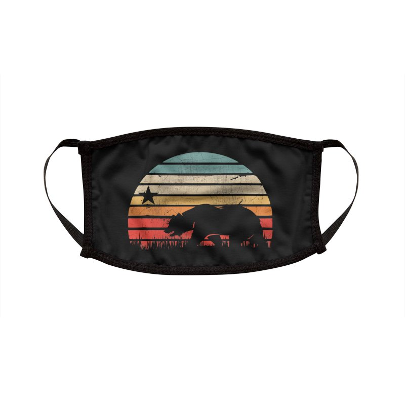 Retro Vintage California Sunset Accessories Face Mask by The Tee Supply Co