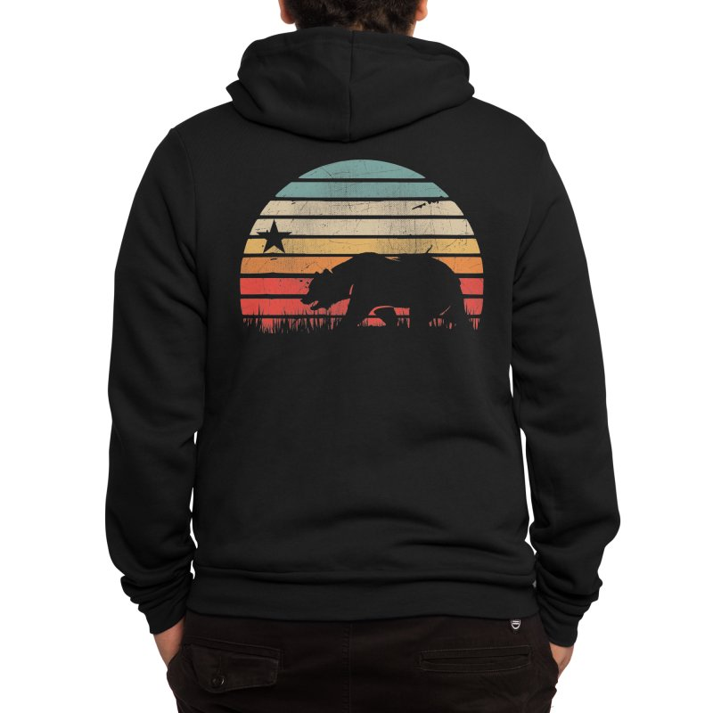 Retro Vintage California Sunset Men's Zip-Up Hoody by The Tee Supply Co