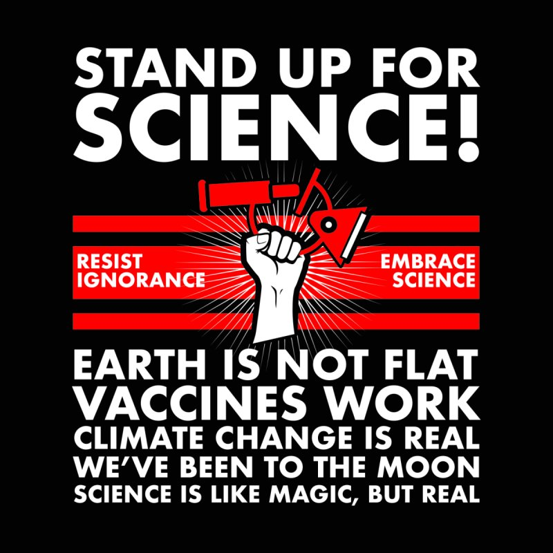 Stand Up for Science Resist Ignorance Men's Zip-Up Hoody by The Tee Supply Co