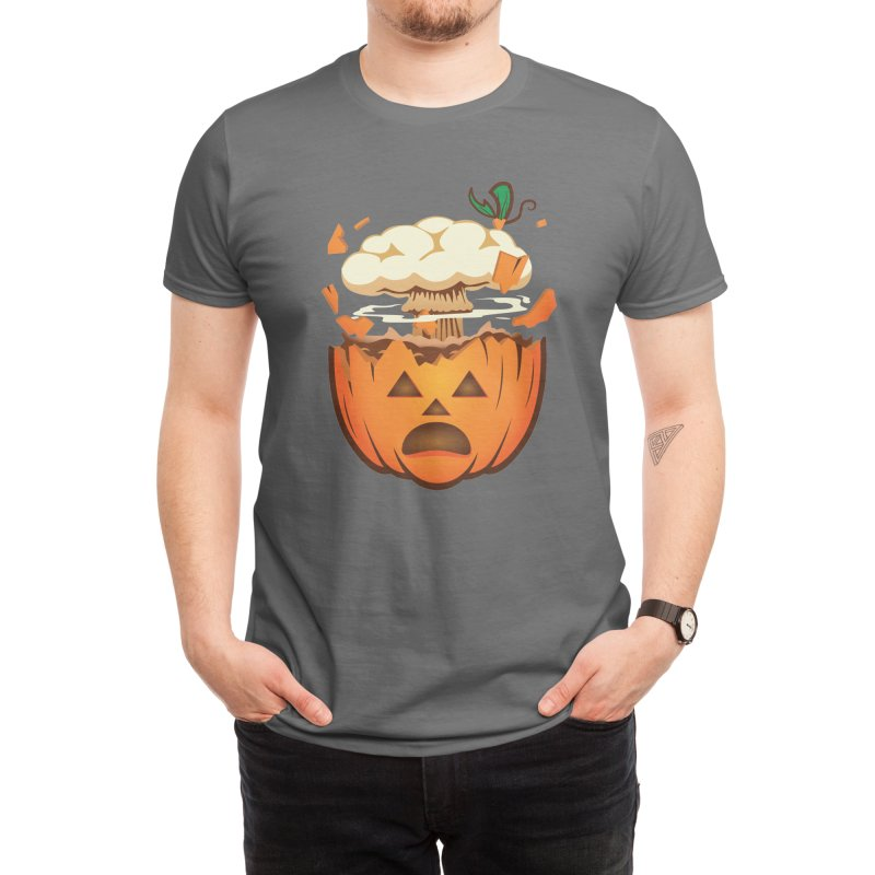 Pumpkin Mind Blown Emoji Funny Halloween Jack-o-Lantern Men's T-Shirt by The Tee Supply Co