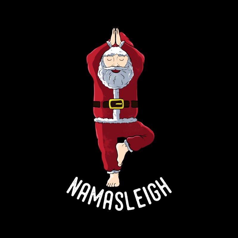 Namasleigh Santa Claus Yoga Pose Namaste Pun Men's T-Shirt by The Tee Supply Co