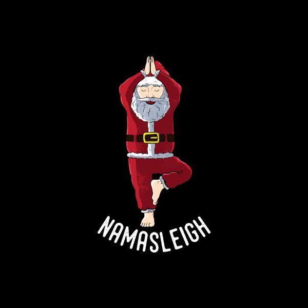 Design for Namasleigh Santa Claus Yoga Pose Namaste Pun