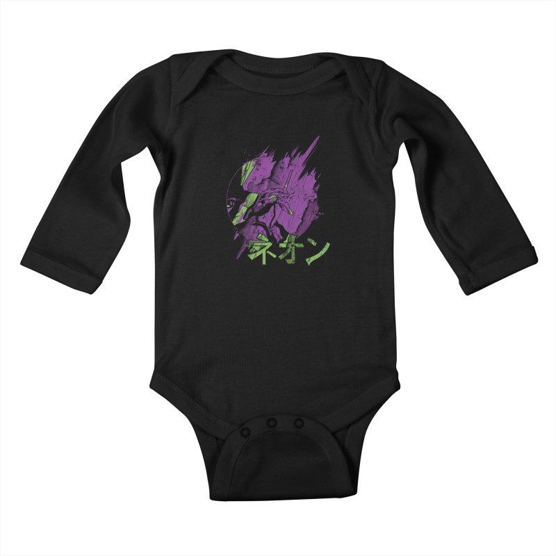 NEON Kids Baby Longsleeve Bodysuit by japdua's Artist Shop