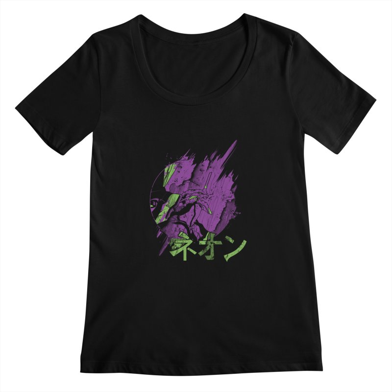 NEON Women's Scoopneck by japdua's Artist Shop