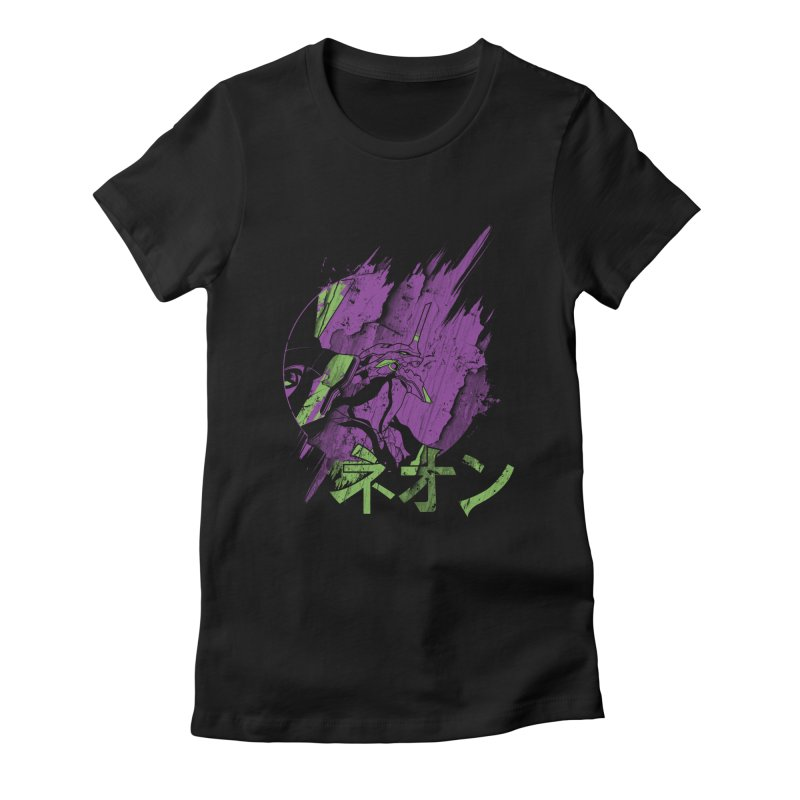 NEON Women's Fitted T-Shirt by japdua's Artist Shop
