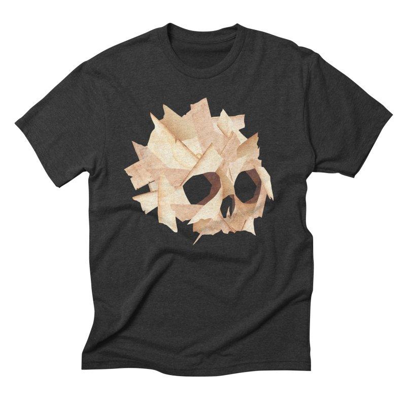 Paper Skull Men's Triblend T-shirt by japdua's Artist Shop
