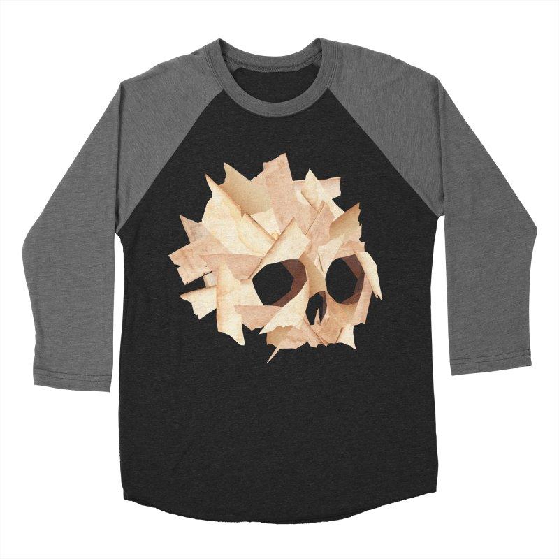 Paper Skull Men's Baseball Triblend T-Shirt by japdua's Artist Shop