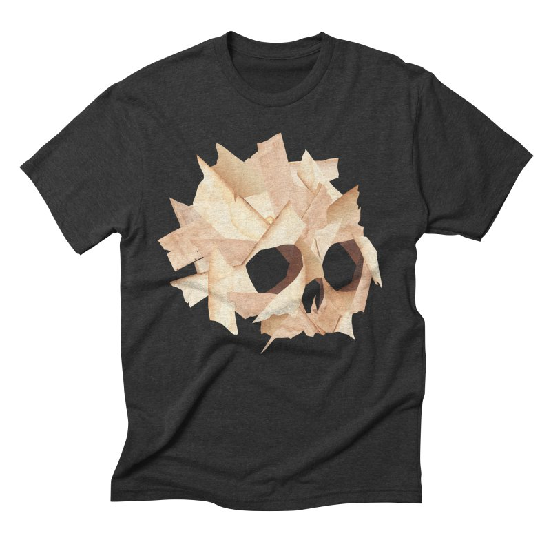 Paper Skull Men's Triblend T-shirt by japdua's Artist Shop