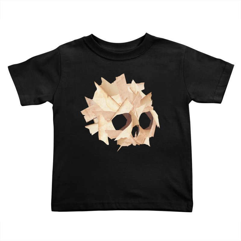 Paper Skull Kids Toddler T-Shirt by japdua's Artist Shop