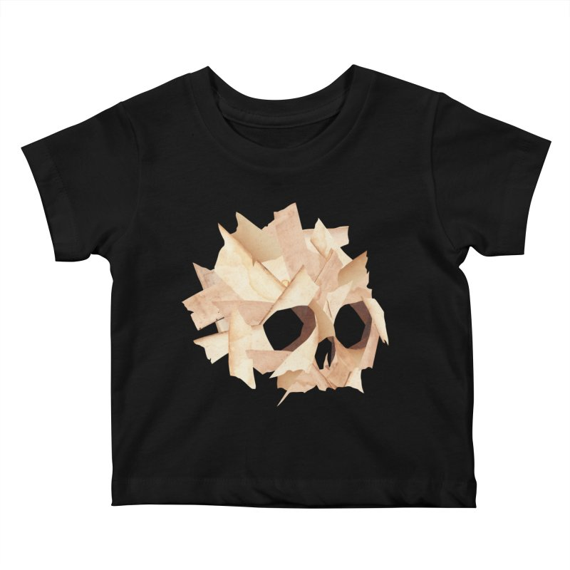 Paper Skull Kids Baby T-Shirt by japdua's Artist Shop