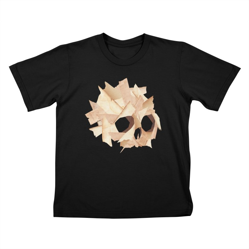 Paper Skull Kids T-Shirt by japdua's Artist Shop