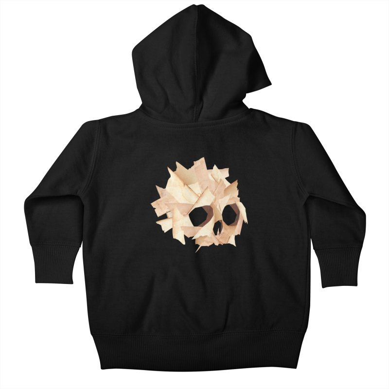 Paper Skull Kids Baby Zip-Up Hoody by japdua's Artist Shop