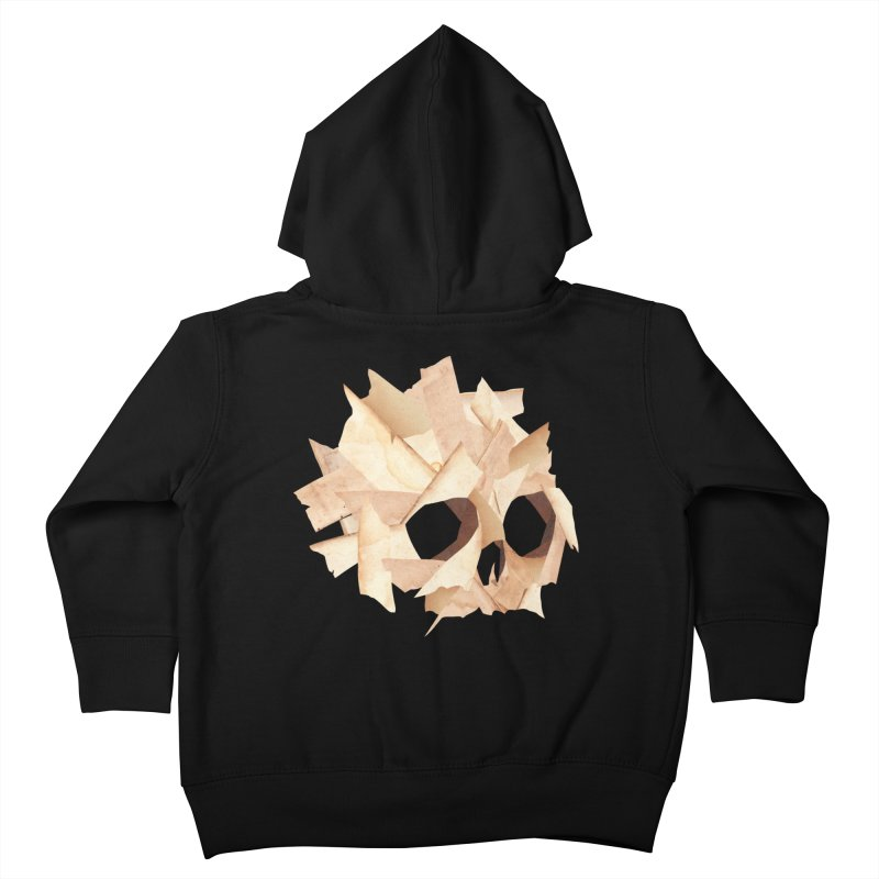 Paper Skull Kids Toddler Zip-Up Hoody by japdua's Artist Shop