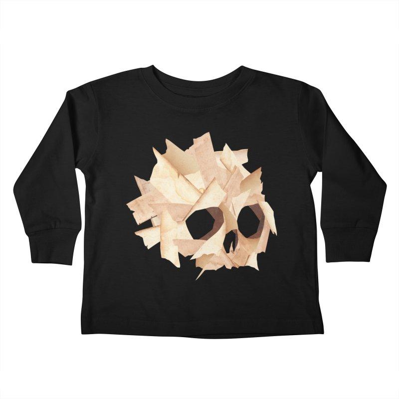 Paper Skull Kids Toddler Longsleeve T-Shirt by japdua's Artist Shop