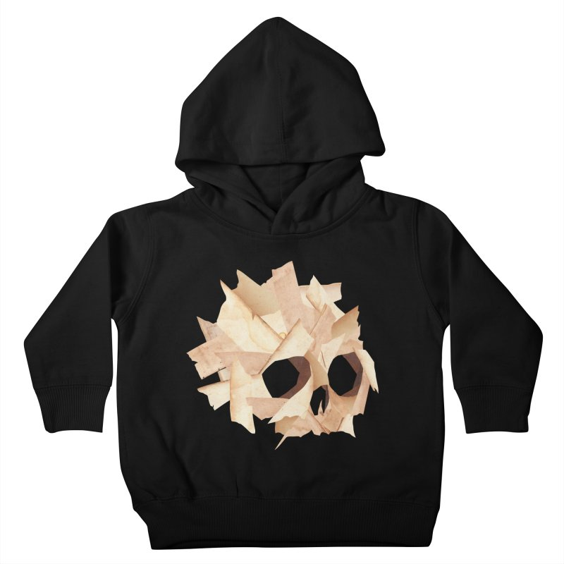 Paper Skull Kids Toddler Pullover Hoody by japdua's Artist Shop