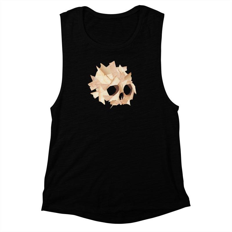 Paper Skull Women's Muscle Tank by japdua's Artist Shop