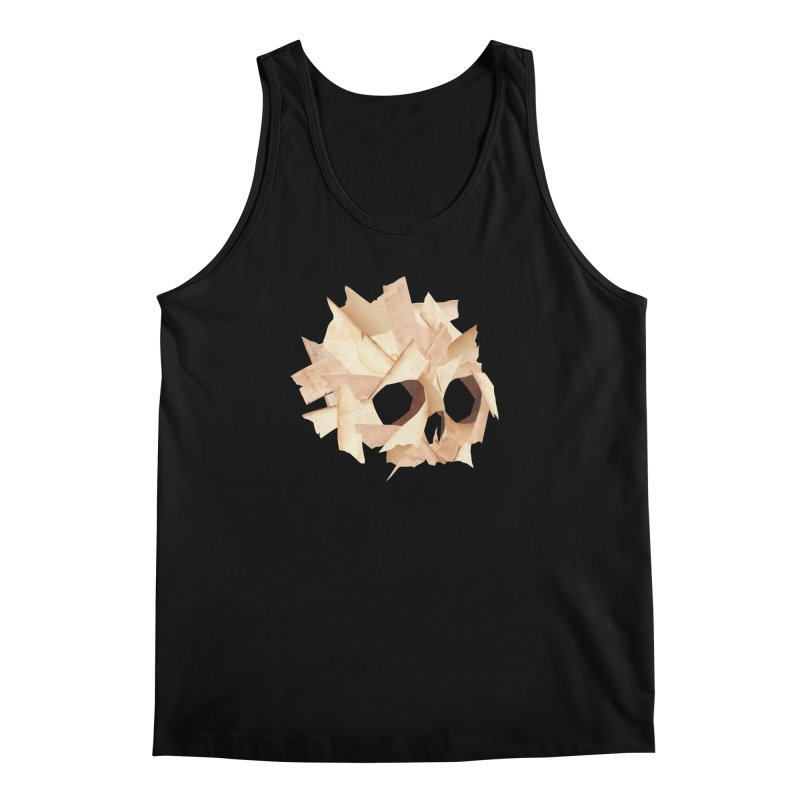 Paper Skull Men's Tank by japdua's Artist Shop