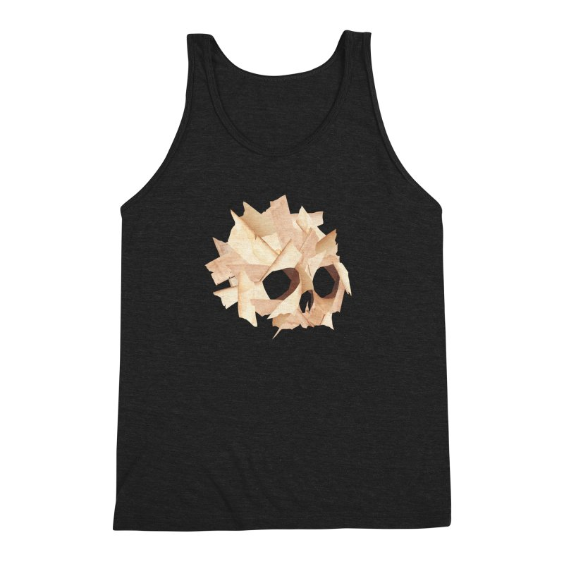 Paper Skull Men's Triblend Tank by japdua's Artist Shop
