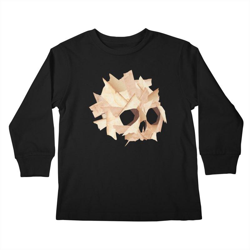 Paper Skull Kids Longsleeve T-Shirt by japdua's Artist Shop
