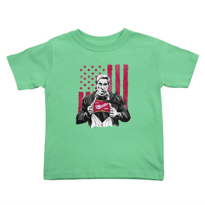 It's Super Mueller Time Kids Toddler T-Shirt by japdua's Artist Shop