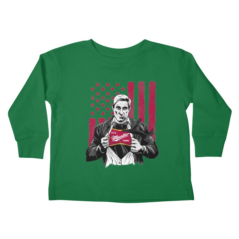 It's Super Mueller Time Kids Toddler Longsleeve T-Shirt by japdua's Artist Shop