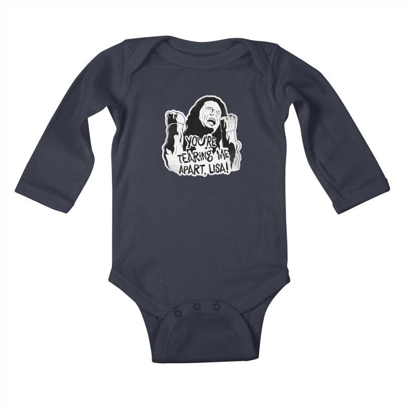 You're Tearing Me Apart Lisa Kids Baby Longsleeve Bodysuit by japdua's Artist Shop