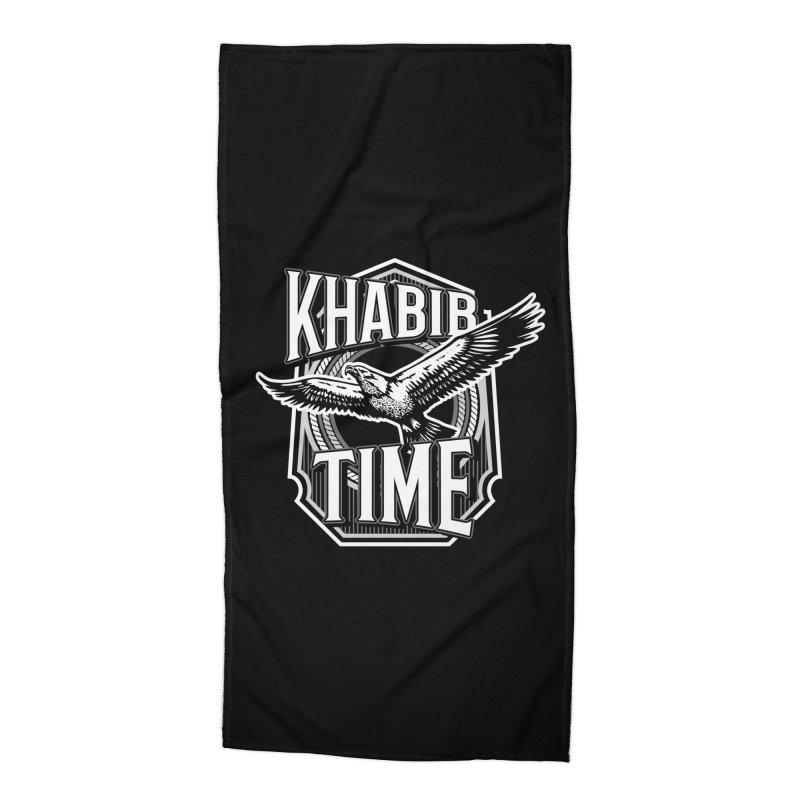 Khabib Time Accessories Beach Towel by japdua's Artist Shop