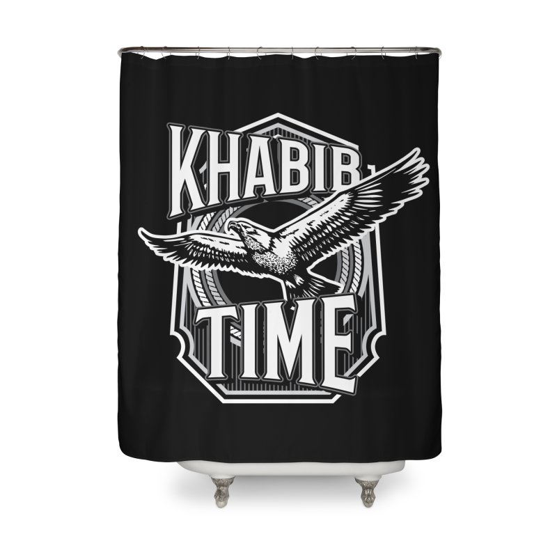 Khabib Time Home Shower Curtain by japdua's Artist Shop