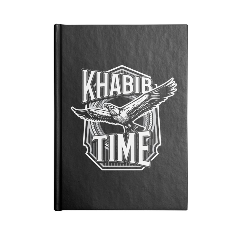 Khabib Time Accessories Blank Journal Notebook by japdua's Artist Shop