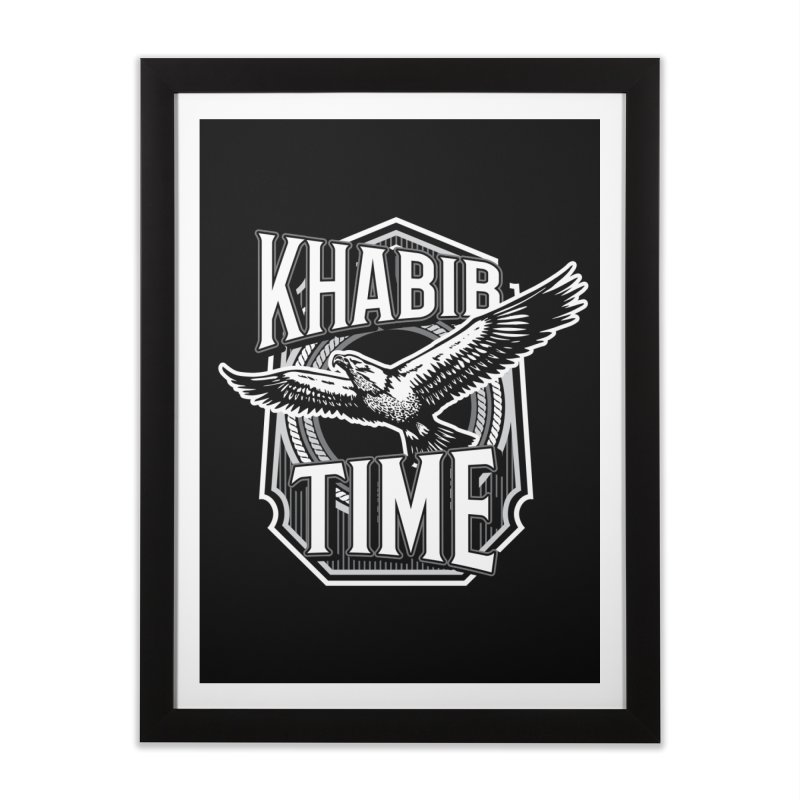 Khabib Time Home Framed Fine Art Print by japdua's Artist Shop
