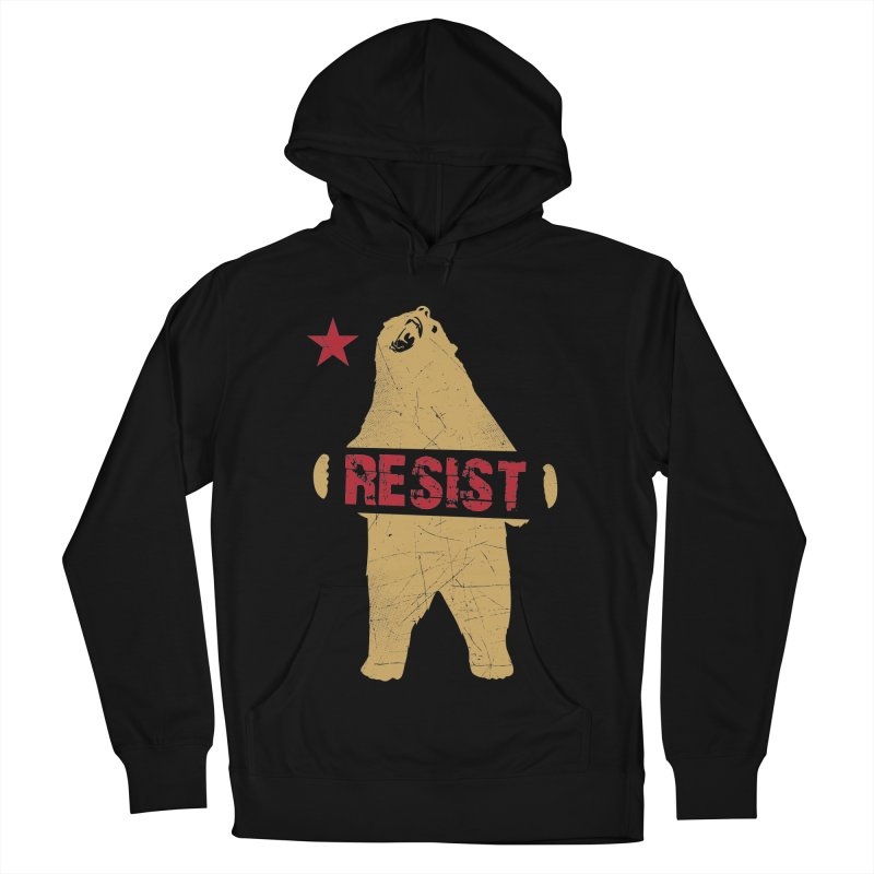 Cali Resist Bear Men's Pullover Hoody by japdua's Artist Shop
